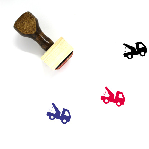 Tow Truck Wooden Rubber Stamp No. 51
