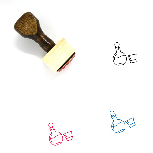 Alcohol Wooden Rubber Stamp No. 48