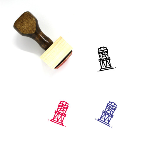 Statue Wooden Rubber Stamp No. 39