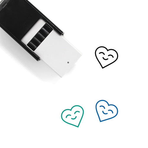 Heart Smile Self-Inking Rubber Stamp No. 2