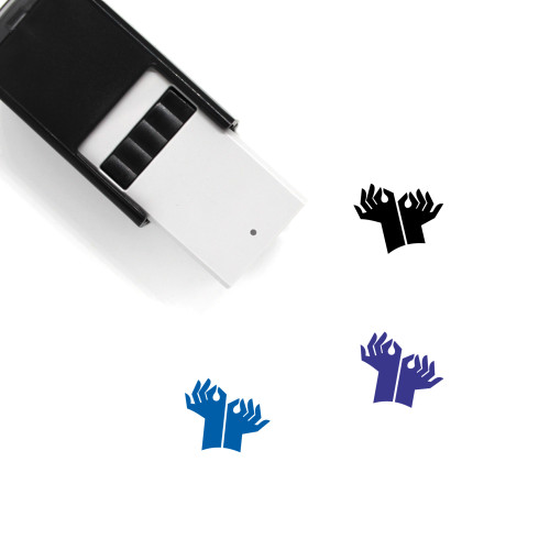 Hands Self-Inking Rubber Stamp No. 65