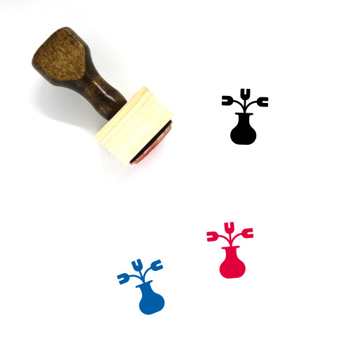Tulips Wooden Rubber Stamp No. 37