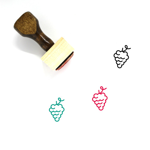 Grapes Wooden Rubber Stamp No. 63