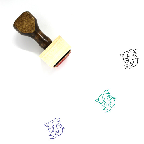 Pisces Wooden Rubber Stamp No. 42
