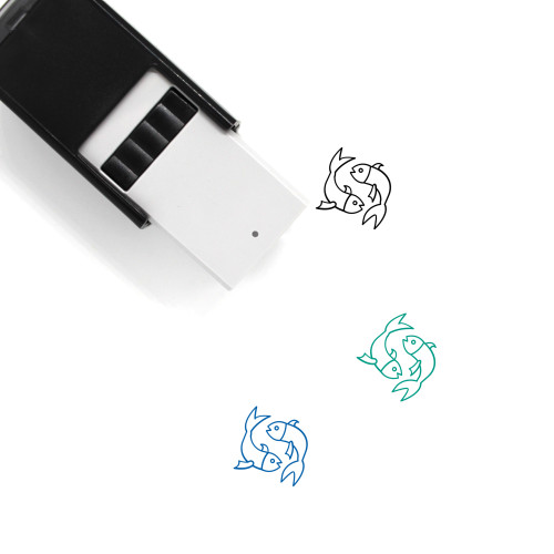 Pisces Self-Inking Rubber Stamp No. 42