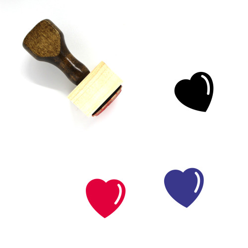 Heart Symbol Wooden Rubber Stamp No. 3
