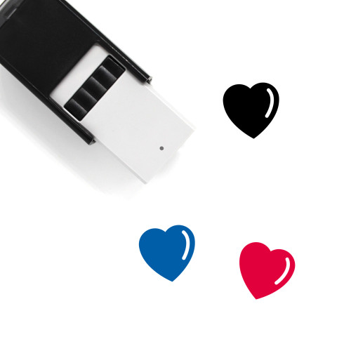 Heart Symbol Self-Inking Rubber Stamp No. 3