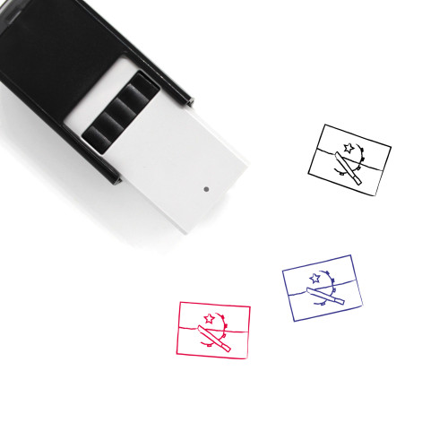 Angolan Flag Self-Inking Rubber Stamp No. 1