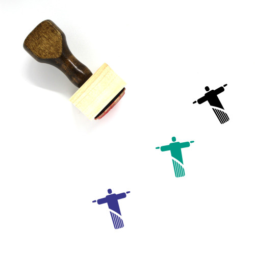 Christ The Redeemer Wooden Rubber Stamp No. 20