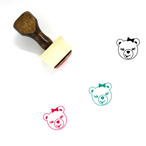 Tongue Out Wooden Rubber Stamp No. 35