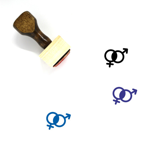 Gender Equality Wooden Rubber Stamp No. 31