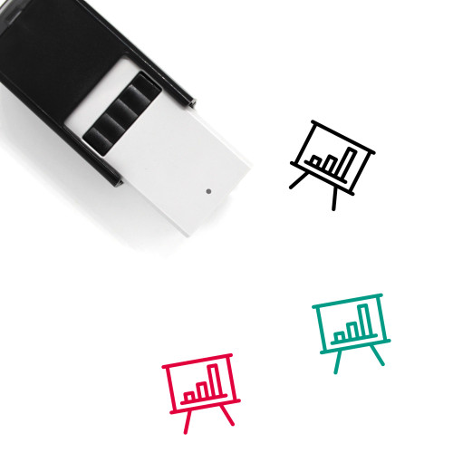 Bar Chart Show Self-Inking Rubber Stamp No. 3