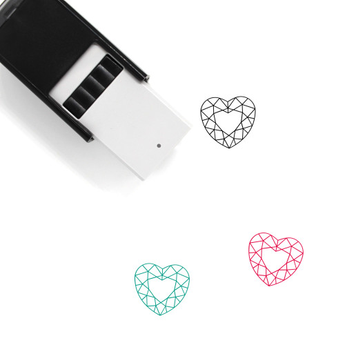 Heart Diamond Self-Inking Rubber Stamp No. 10