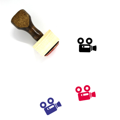 Video Camera Wooden Rubber Stamp No. 136
