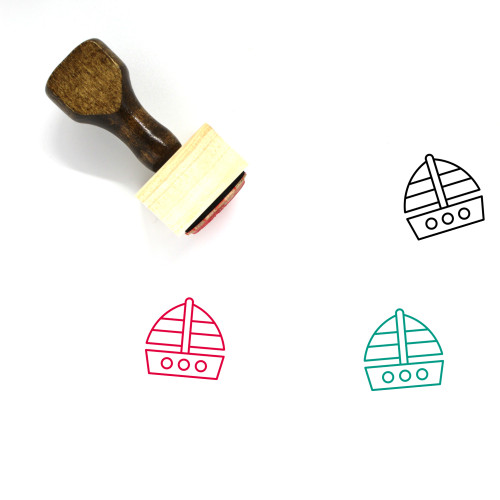 Sailing Boat Wooden Rubber Stamp No. 28
