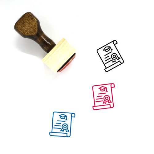 Honor Wooden Rubber Stamp No. 2