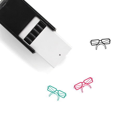 Glasses Self-Inking Rubber Stamp No. 274