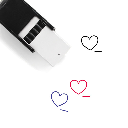 Remove Heart Self-Inking Rubber Stamp No. 8