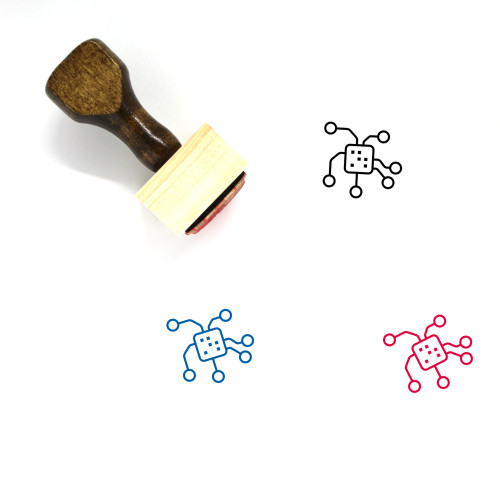 Technology Wooden Rubber Stamp No. 44