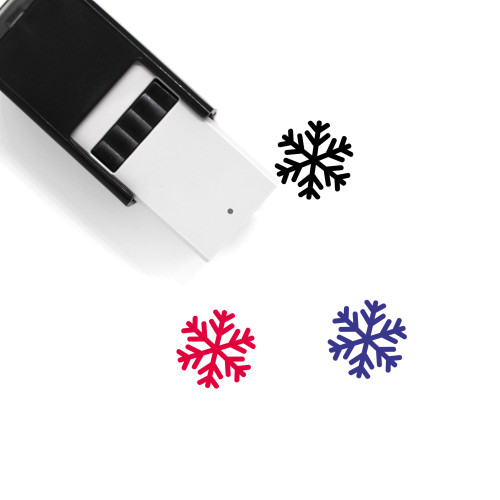 Snow Flake Self-Inking Rubber Stamp No. 34
