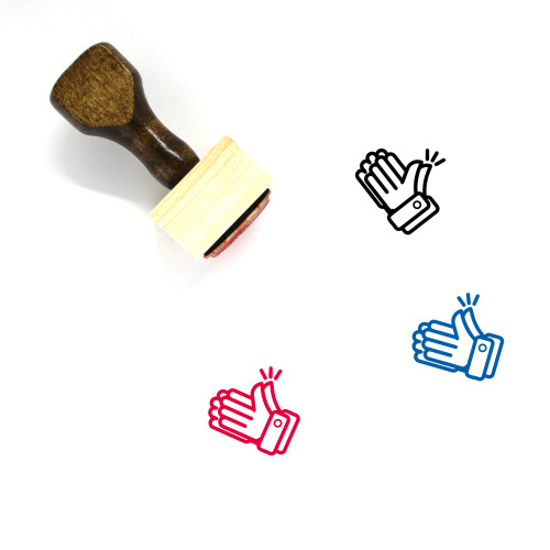 Clapping Wooden Rubber Stamp No. 5