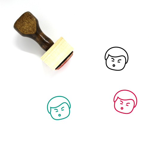 Man Wooden Rubber Stamp No. 469