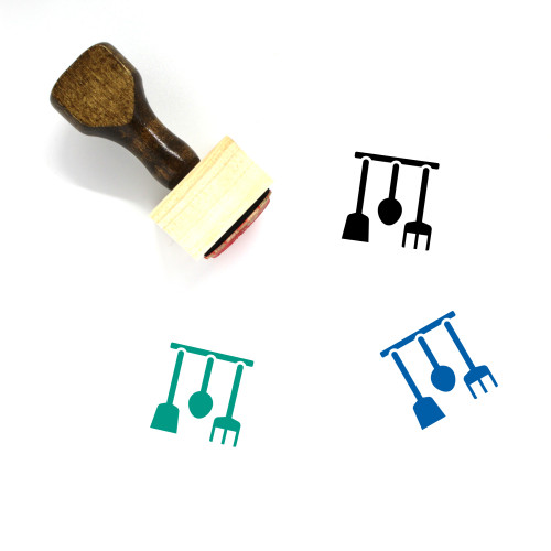 Cookware Wooden Rubber Stamp No. 13