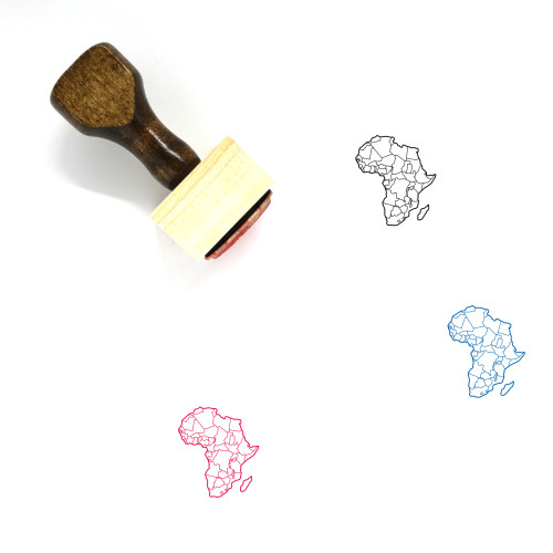 Africa Wooden Rubber Stamp No. 59