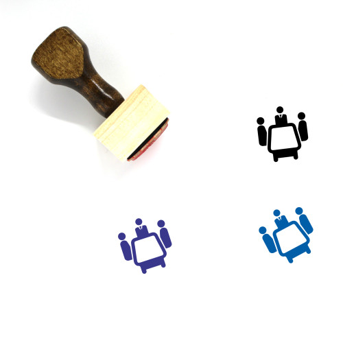 Business Meeting Wooden Rubber Stamp No. 38