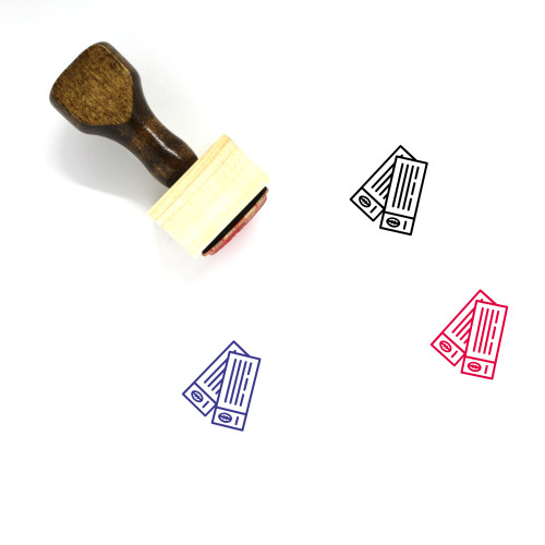 Tickets Wooden Rubber Stamp No. 95