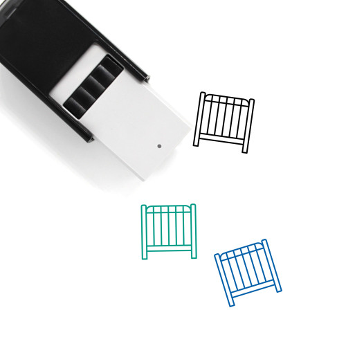 Crib Self-Inking Rubber Stamp No. 38