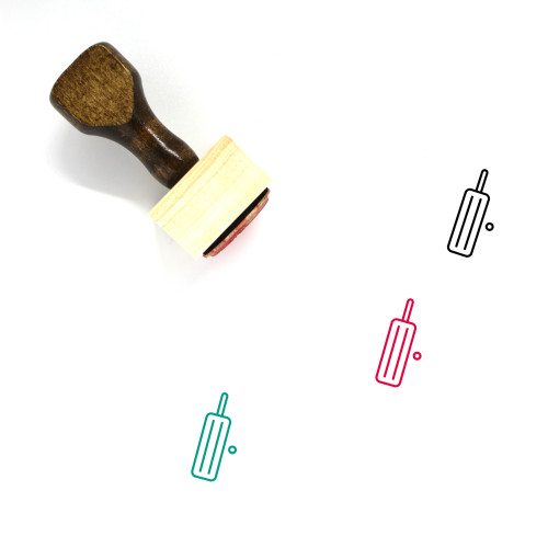 Cricket Wooden Rubber Stamp No. 39