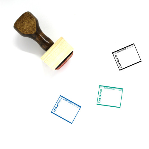 Operating System Layout Wooden Rubber Stamp No. 13