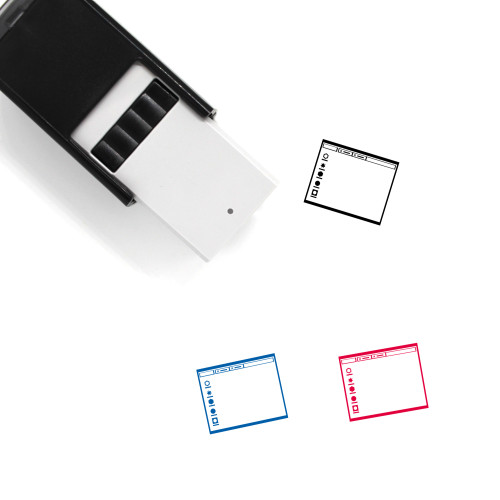 Operating System Layout Self-Inking Rubber Stamp No. 13