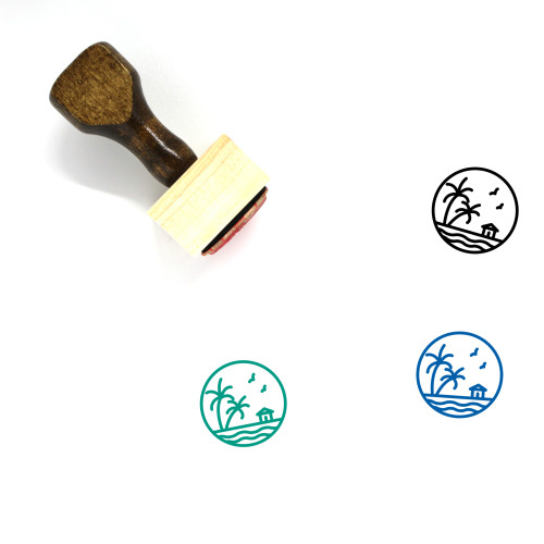 Nature Wooden Rubber Stamp No. 177