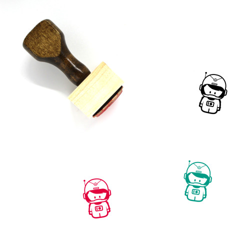 Astronaut Wooden Rubber Stamp No. 69