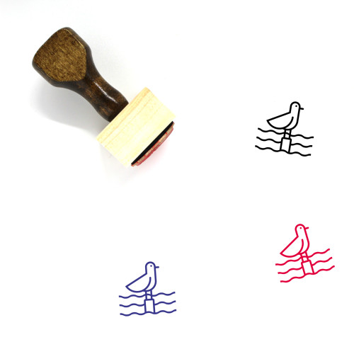 Seagull Wooden Rubber Stamp No. 16