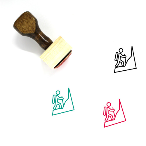 Climb Wooden Rubber Stamp No. 11