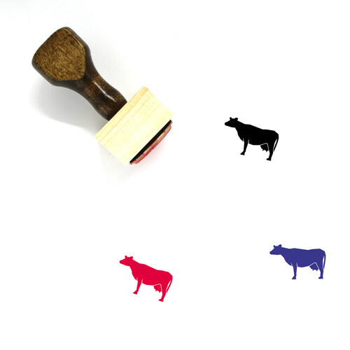 Cow Wooden Rubber Stamp No. 25