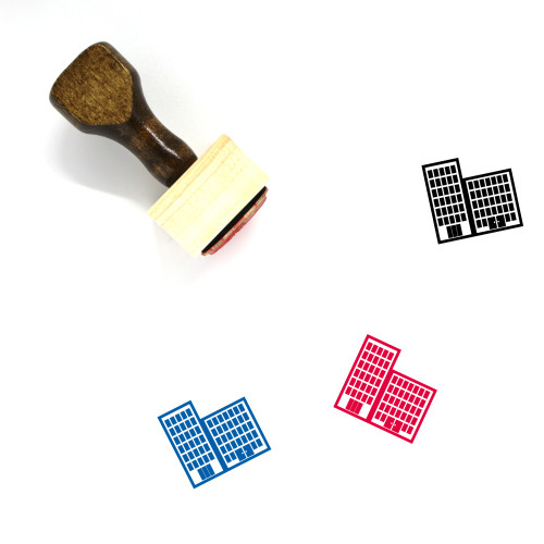 Buildings Wooden Rubber Stamp No. 102