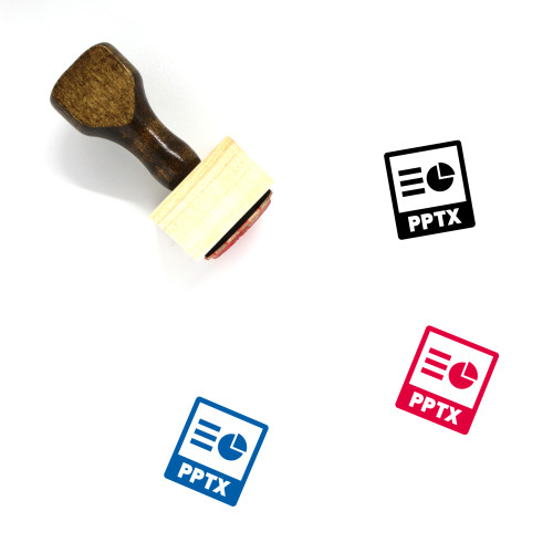 Pptx File Wooden Rubber Stamp No. 2