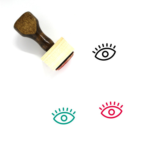 Eye Wooden Rubber Stamp No. 464