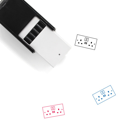 Switched Socket With USB Self-Inking Rubber Stamp No. 2