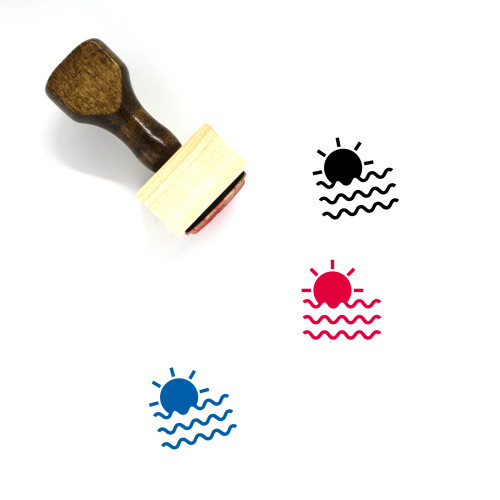 Sea Sunset Wooden Rubber Stamp No. 1