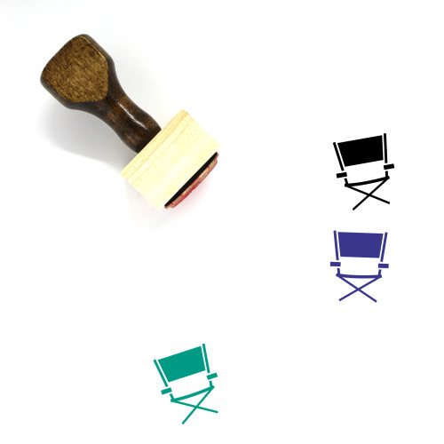 Directors Chair Wooden Rubber Stamp No. 17