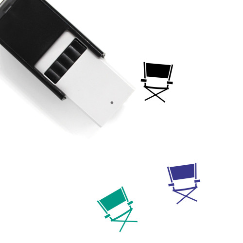 Directors Chair Self-Inking Rubber Stamp No. 17