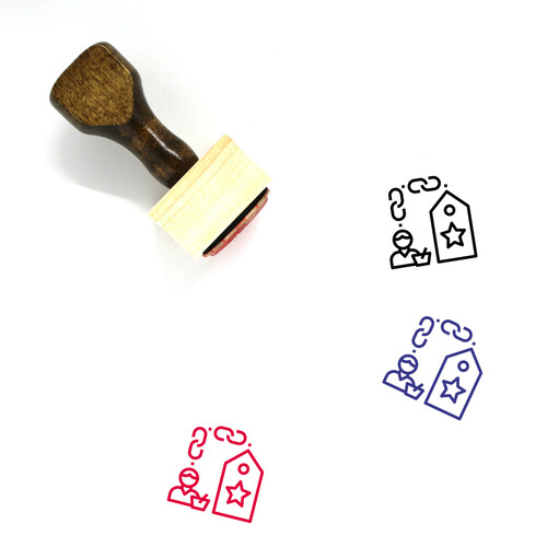 Engagement Wooden Rubber Stamp No. 31