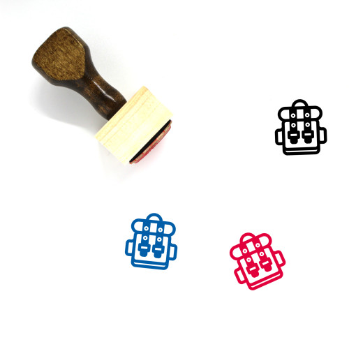 Backpack Wooden Rubber Stamp No. 27