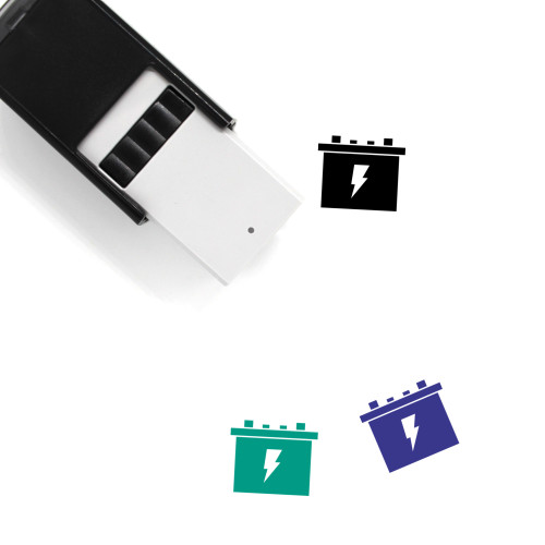 Battery Self-Inking Rubber Stamp No. 462