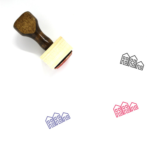 Neighborhood Wooden Rubber Stamp No. 19